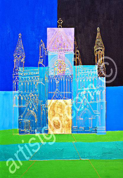 ST ALBANS CATHEDRAL ACRYLIC CANVAS91X61CM