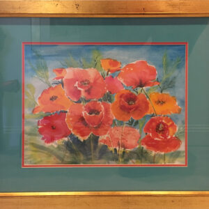 poppies framed